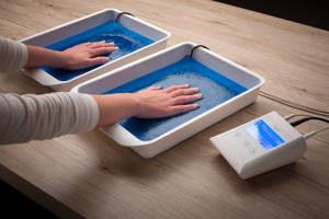 Saalio Leitungswasser-Iontophoresegerät zur Behandlung der Hände(Hyperhidrosis palmaris)